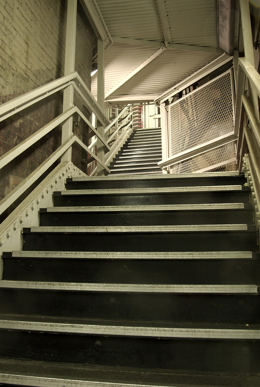 El Station Stairs, Chicago.