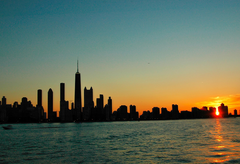 Chicago at Sunset, June.