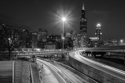Skyline and Freeway Chicago, IL