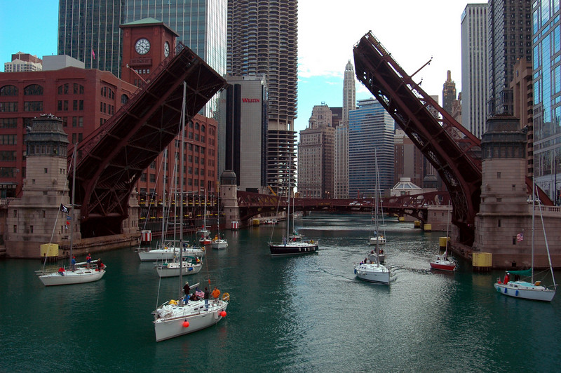 Chicago River, October.