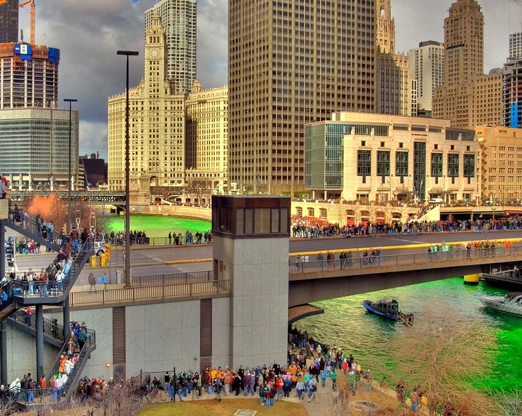 Chicago River, St. Patrick's Day.