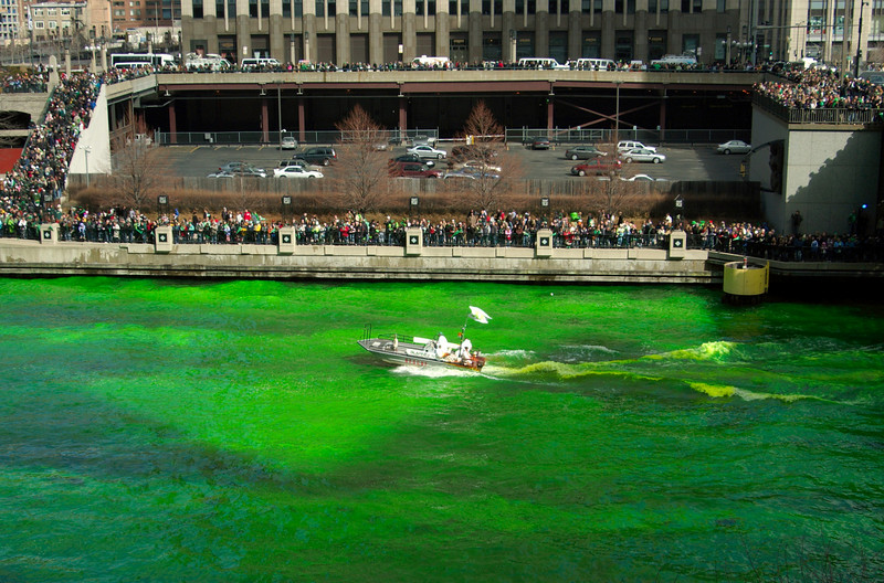 Chicago River, St. Patrick's Day. Number 2.