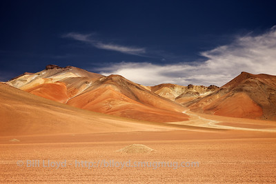 The mountains of the Bolivian altiplano are full of minerals including iron and sulphur