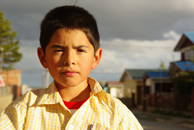Young boy in Puerto Natales