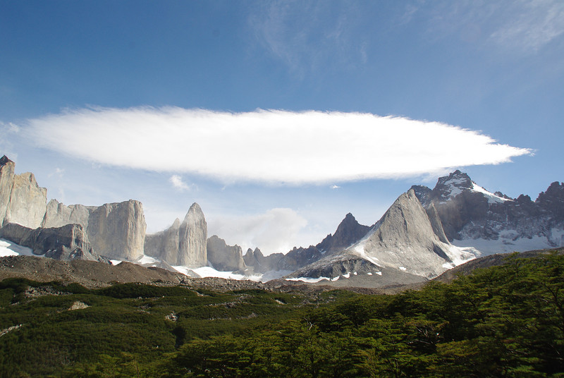Mad cloud in the Valle de Frances, Torres del Paine, Patagonia