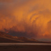 Watching the Sunset in the Atacama Desert can be an adventure - a storm rolling in...