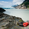 Relaxing watching the Glacier Grey recede.