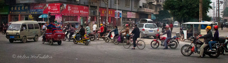 Early morning traffic chaos, Guilin
