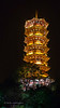 Guilin's pagoda lit up for the tourists