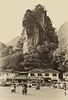Spectacular scenery and urban jumble, Yangshuo