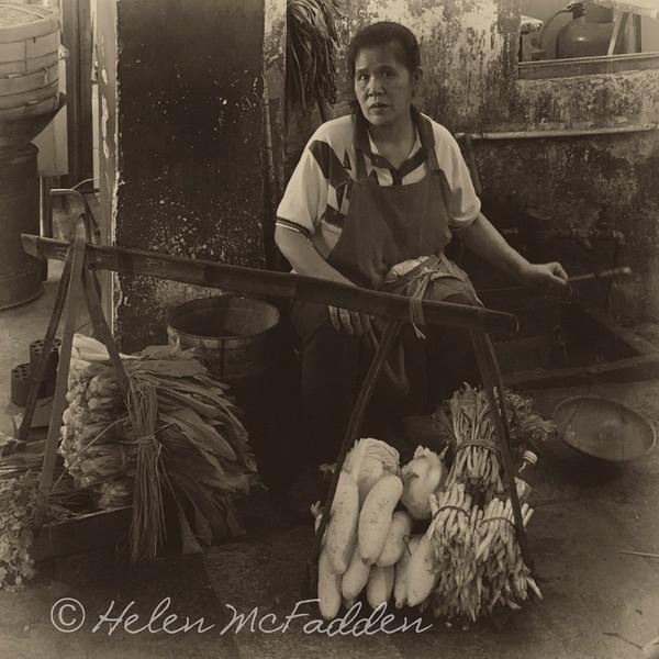 Produce Seller, Yangshuo Market