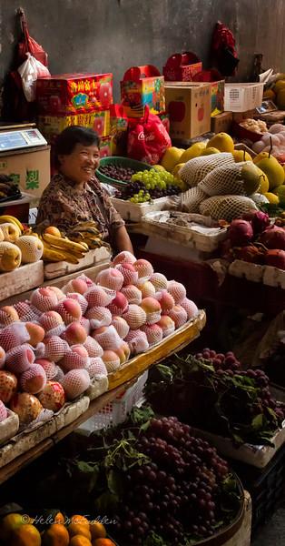 Luscious produce, Yangshuo market