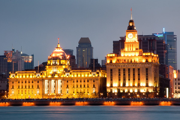 The Bund in Shanghai.