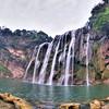 Huangguoshu waterfall in Guizhou with fisheye lens.
