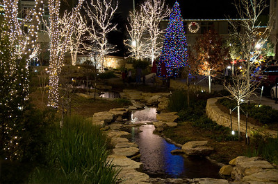 Night time scenes from Watters Creek