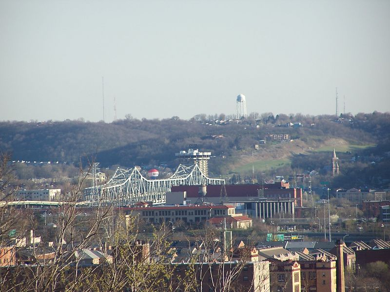 The Brent Spence Bridge, where Interstates 71 & 75 cross the Ohio River into Kentucky.