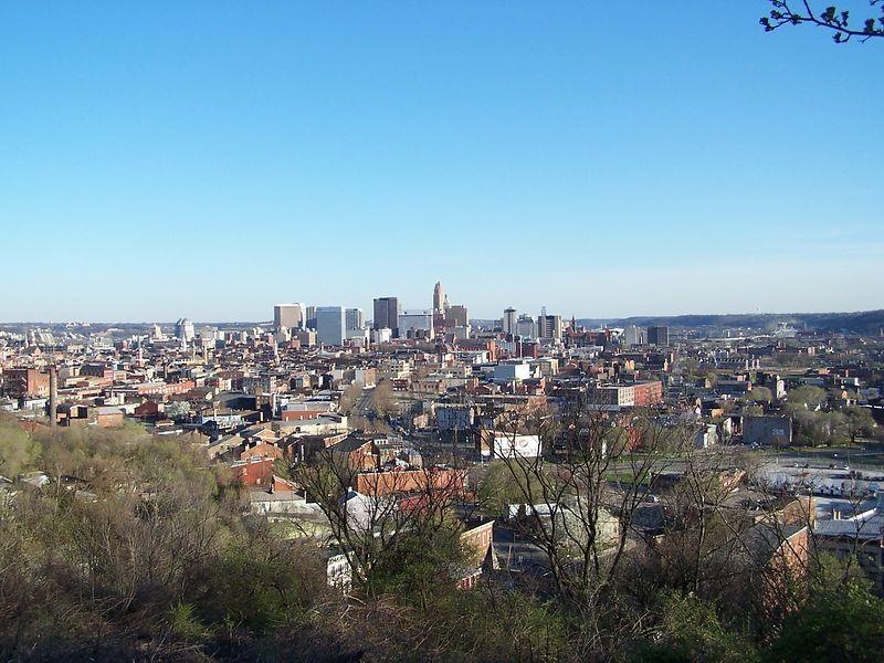 Downtown Cincinnati from Fairview Park.
