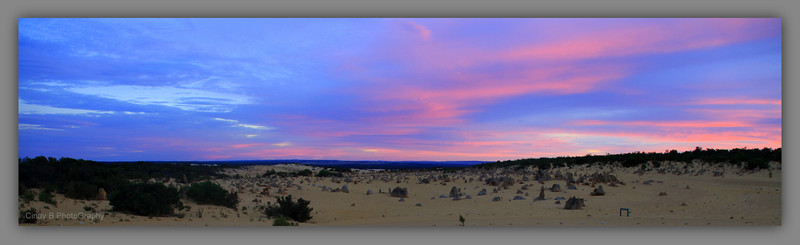 Pinnacles Desert in Western Australia - Sunrise in the Winter