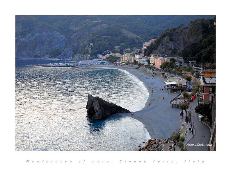 Beach at Monterosso al Mare, Cinque Terre, Italy
