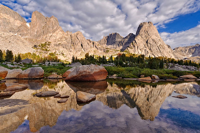 Pingora reflection. Cirque of the Towers. Photo by Mike Reid.