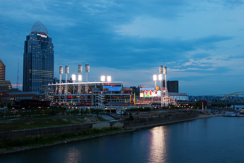 The Great American Ballpark in Cincinnati, Ohio