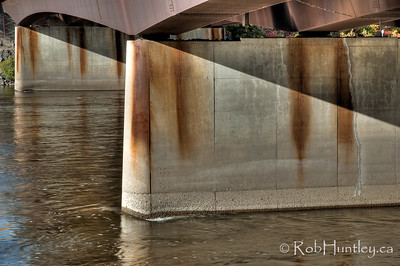 Portage bridge substructure, Ottawa, Ontario. Ottawa River. HDR.  © Rob Huntley