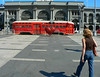 Red Bus In Front Of Ferry Building, San Francisco