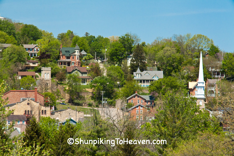 View of Galena, Illinois, from Grant's Home