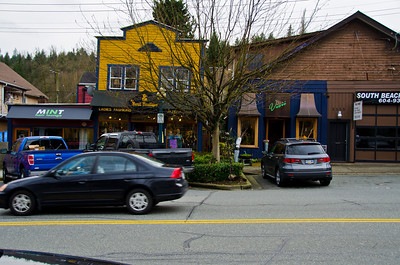 Clarke Street, Port Moody - This street in Port Moody runs parallel to St. Johns St. There are several heritage stores and residential homes that have been converted to shops. There are many residences mixed in with the shops as well. The whole neighborhood is at risk of being destroyed due to Skytrain expansion.