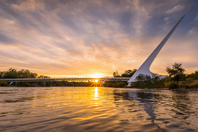 Sundial Bridge Sunset