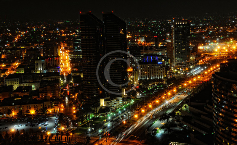 San Diego Gaslamp District night time lapse