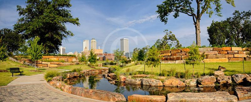 Downtown Tulsa Oklahoma from Centennial Park