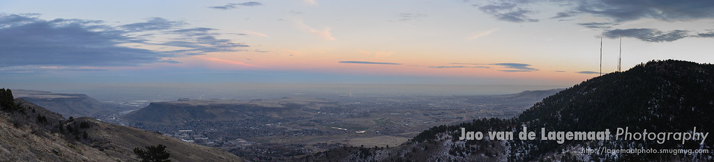 Denver area evening pano
