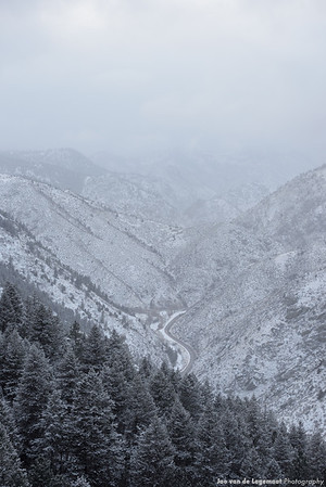 Snowy canyon