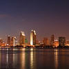 From Coronado Island, you can get a wonderful view of the San Diego Skyline. I took this while doing my Naval Reserve duty at NAB Coronado.