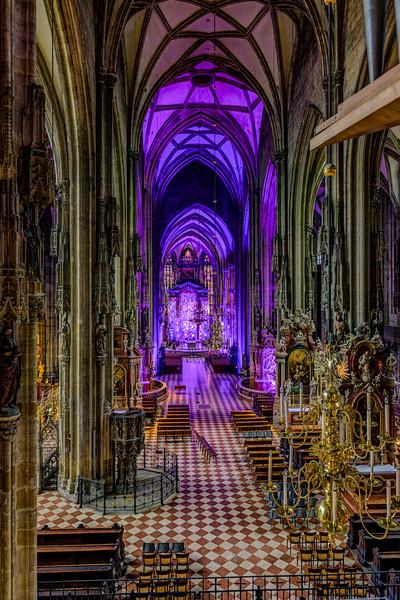 """""""St. Stephen's Cathedral in Vienna Interior"""""""