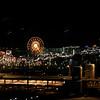 Navy Pier at night.
