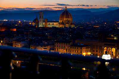 View of the Duomo at night, Florence, Italy 2010