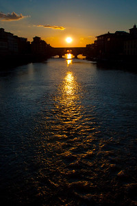 Sunset over the Ponte Vecchio, Florence, Italy 2010