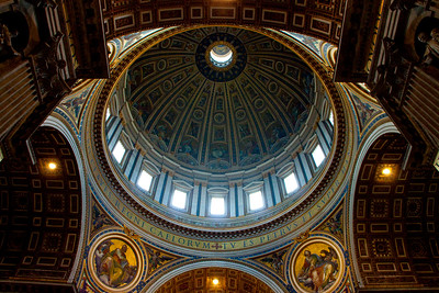 A view of the dome of St. Peter's Basilica, Vatican City, Italy 2010