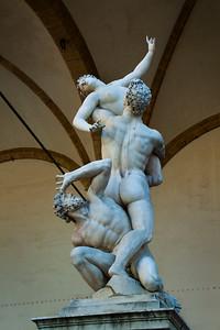 A statue by Giambologna in the Loggia dei Lanzi, Florence, Italy 2010