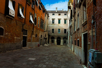 One of many smaller Piazzas in Venice, Italy 2010