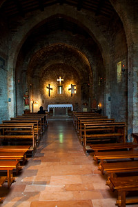 the interior of a small church in Assisi, not sure of the name... not one of the main churches there... Assisi, Italy 2010