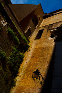 One of the courtyards between St. Peter's Basilica and the Vatican Museum, Vatican City, Italy 2010