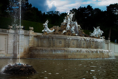The Neptune Fountain at Schönbrunn Palace, Vienna, Austria 2010