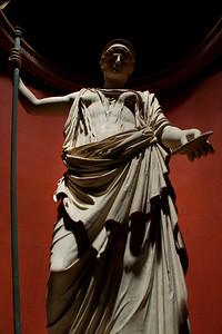 A statue in the Rotunda Room of the Vatican Museum, Vatican City, Italy 2010