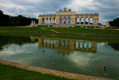 A view of the Gloriette above the Schönbrunn Palace, Vienna, Austria 2010