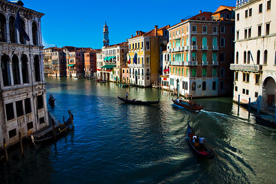 A view of the Grand Canal, Venice, Italy 2010