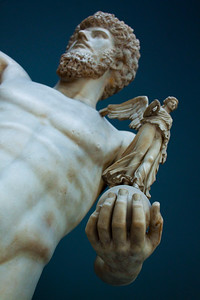 Detail from the statue of an Athlete, Vatican Museum, Vatican City, Italy 2010