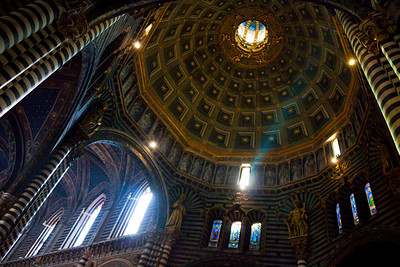 The interior of the Duomo di Siena, Italy 2010